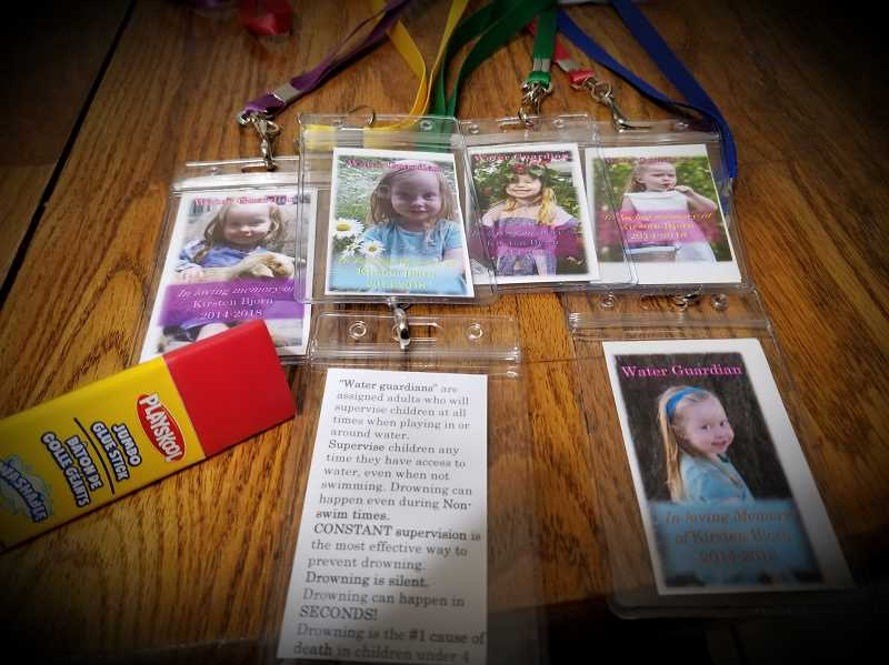 COURTESY PHOTO: BECCAH BJORN - These water watcher badges were created in honor of Kirsten Bjorn.