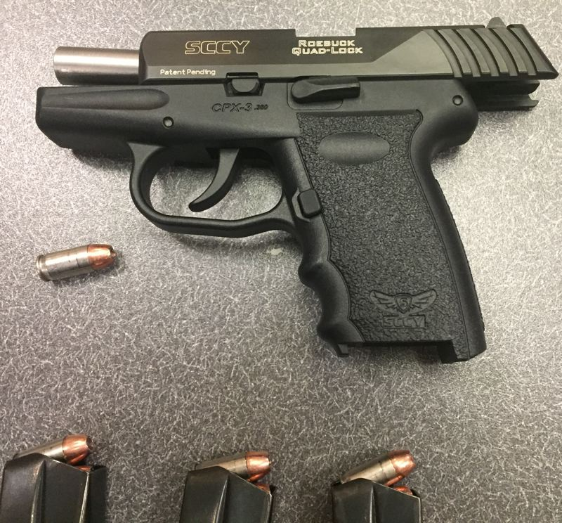 VIA PPB - Portland Police claim to have confiscated this gun after shots were fired in three Portland neighborhoods.