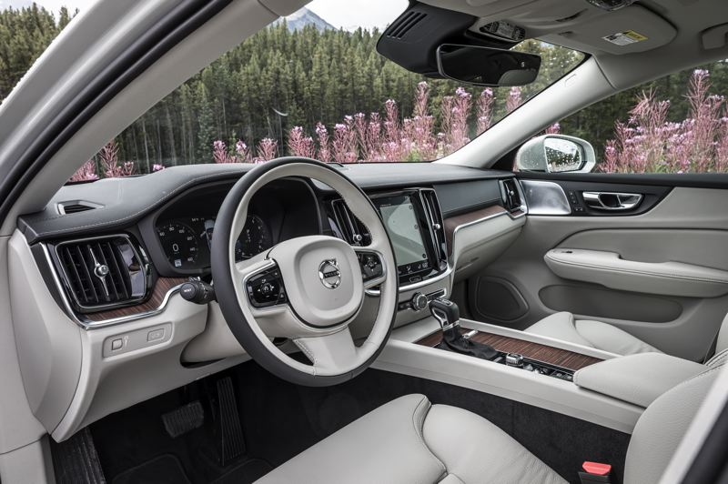 COURTESY VOLVO - The clean Scandinavian design of the dashboard highlights the tall 9-inch Sensus Connect touchscreen. All advanced automotive technologires are also available.