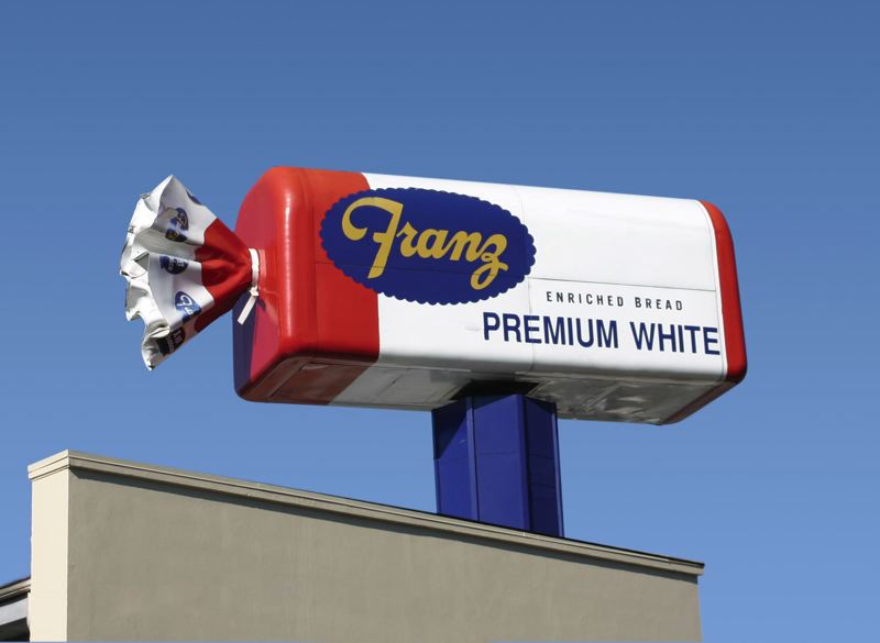 COURTESY PHOTO: FRANZ BAKERY - The company's signature sign will be cleaned and returned to the building sometime in October.