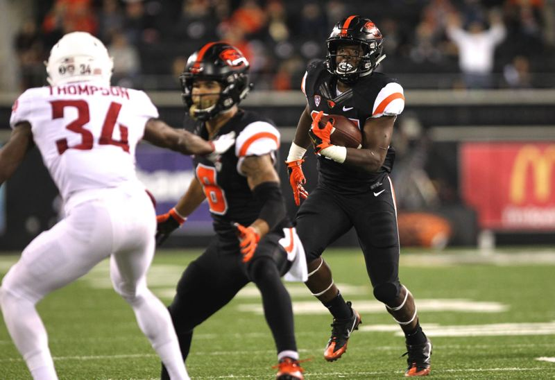 Jermar Jefferson and the Beavers are looking to start fast on Friday against Oklahoma State.