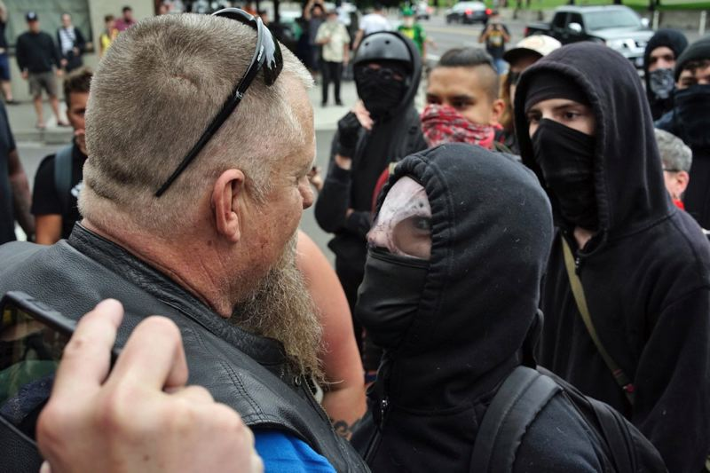 PMG PHOTO: KIT MACAVOY - The Portland Tribune has taken a position in opposition to the violent-right and violent-left, but not to people who protest nonviolently. Supporting and encouraging violence is the same as being violent.