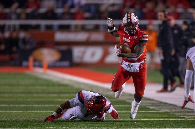 COURTESY PHOTO: UNIVERSITY OF UTAH - Zack Moss, wide receiver, is a featured player on offense for the Utah Utes, who are favored to win the South Division in the Pac-12 this season.