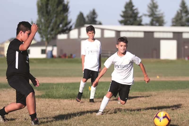 PMG PHOTO: PHIL HAWKINS - United PDX B07 South Premier won the U12 State Cup Championship in May, helping to earn an invitation to the prestigious Northwest Conference.
