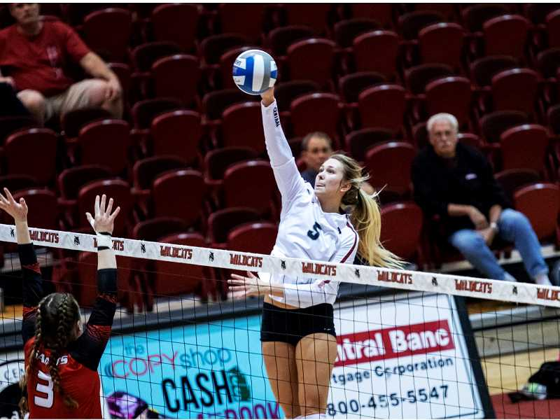 SUBMITTED PHOTO - During Shelby Mauritson's senior season, she earned Division 2 Conference Commissioners Association All-West Region Volleyball first-team honors. Playing in 29 games, she led the team with 361 kills and a .208 hitting percentage.