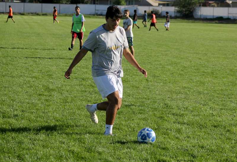STEELE HAUGEN - Senior Tyriek Rodriguez will lead this year's boys soccer team as a leader and captain.Rodriguez was named second-team Tri-Valley hononrs last season.
