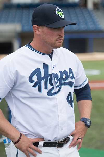 PMG PHOTO: CHRISTOPHER OERTELL - Visalia Rawhide and former Hillsboro Hops manager Shawn Roof was recently honored as the California League's Manager of the Year.