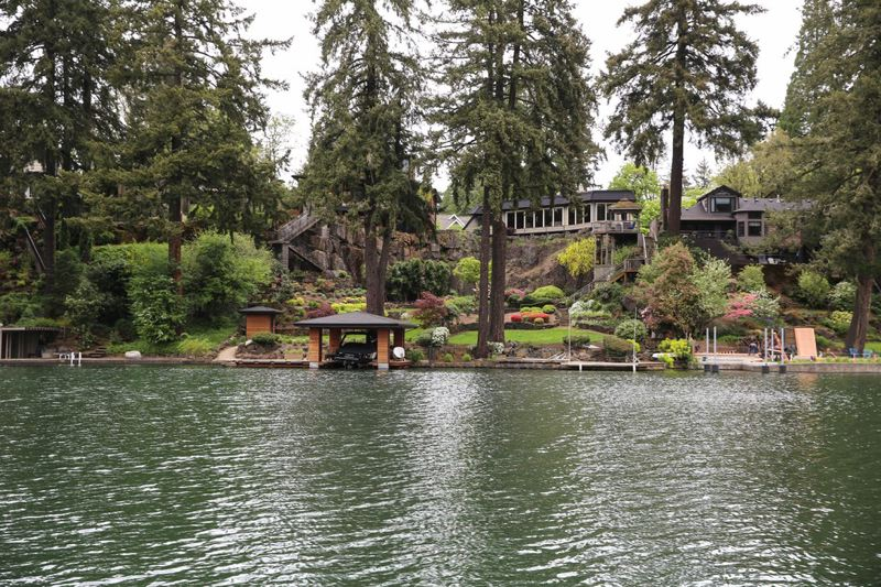 COURTESY OPB - The question of public access to Oswego Lake in Lake Oswego is still undecided.