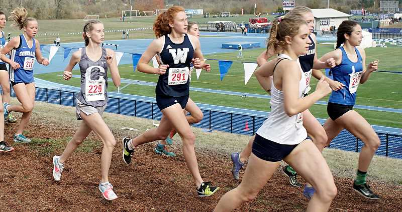 PMG FILE PHOTO - Sydney Burns will run in the girls junior race at the Wilsonville Night Meet Friday night.