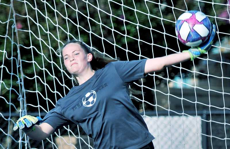 GRAPHIC PHOTO: GARY ALLEN - Senior goalkeeper Ashleigh Rickert will be back this season and stand behind an experienced back line.