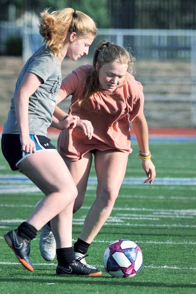GRAPHIC PHOTO: GARY ALLEN - A greater focus on attacking play is integral to Newberg's preparation for the 2019 season.