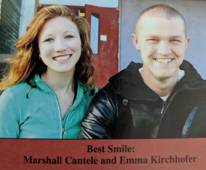 COURTESY PHOTO: ESTACADA HIGH SCHOOL YEARBOOK - River Mill Elementary School kindergarten teacher Emma Kirchoffer won best smile in the 2014 Estacada High School Yearbook.
