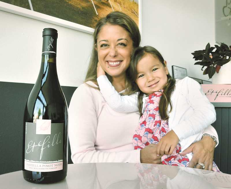 GRAPHIC PHOTO: GARY ALLEN - Jessica Mozeico, owner and winemaker at Et Fille wines, crafted a vintage pinot noir to celebrate her daughter's birth and honor her late father.