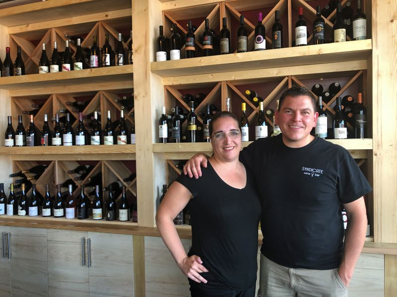 PMG PHOTO: STEPHANIE BASALYGA - After noticing an increase in foot traffic along Beavertons Restaurant Row, Angela and David Anderson decided the area would be a perfect spot for their new venture, Syndicate Wine Bar.
