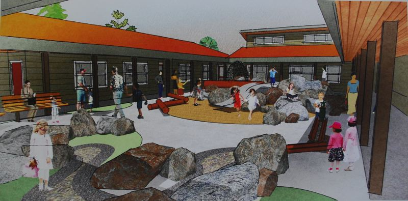 COURTESY PHOTO - Clackamas County Children's Commission River Road Expansion Project includes a courtyard for a playground, surrounded by Head Start classrooms and offices.