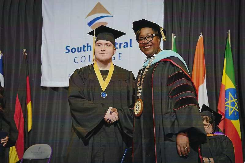 SUBMITTED PHOTO - Robert Lorenzen recently graduated from South Central College in Mankato, Minnesota, with highest honors.