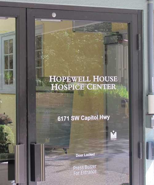 BILL GALLAGHER - There are 11 beds at Hopewell for terminal patients but on most days only three, at most, are occupied.