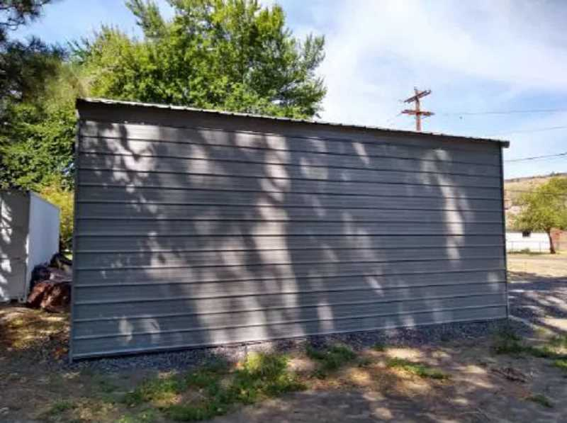 SUBMITTED PHOTO - The Warm Springs Community Action Team's garage, at 1136 Paiute Ave., in Warm Springs, is one of two buildings that will be decorated with a mural.
