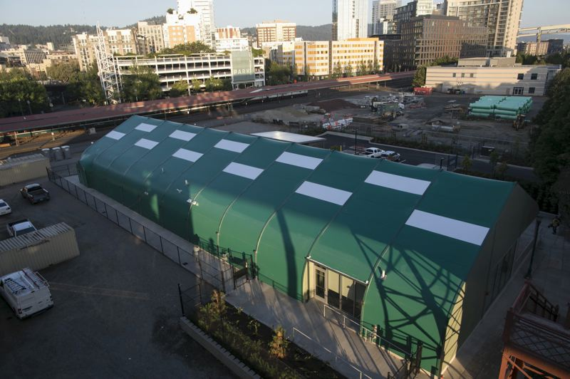 PMG PHOTO: JAIME VALDEZ - The view of the completed Navigation Center from the Broadway Bridge.
