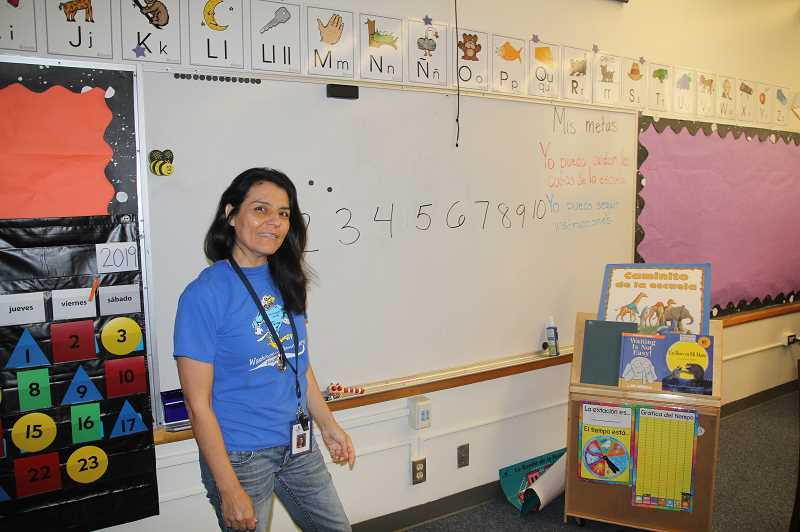 PMG PHOTO: JUSTIN MUCH - Washington Elementary School Kindergarten teacher Irma Soto said instilling the joy of learning into students at a young age prepares them to be lifelong learners.