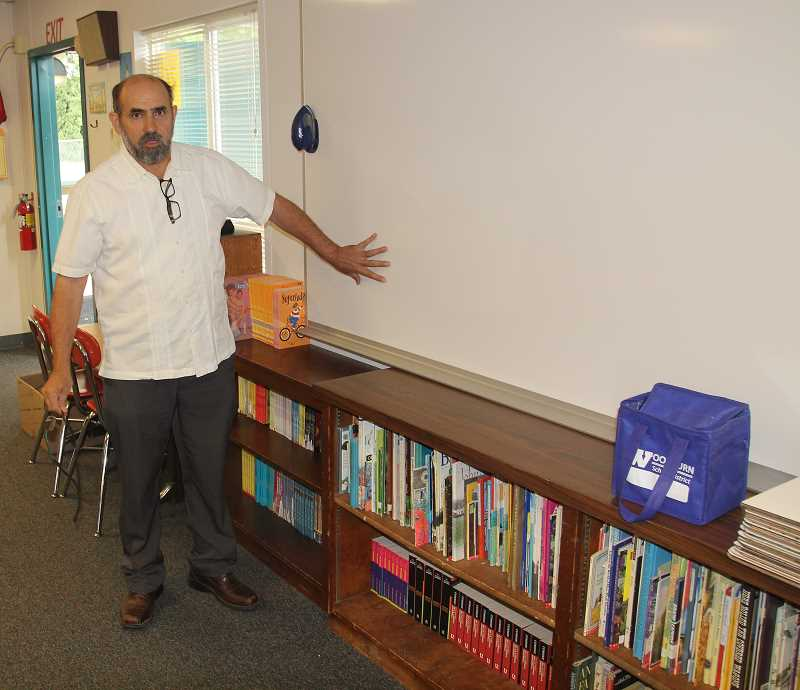 PMG PHOTO: JUSTIN MUCH - Nellie Muir fifth-grade teacher Gumaro Iniguez said over his 17 years at the school he has found the students to be well behaved and well mannered.