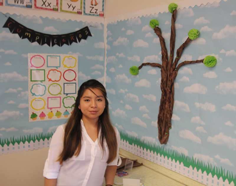 PMG PHOTO: JUSTIN MUCH - Some 17 years ago Dalia Lopez entered an Nellie Muir Elemetary School classroom as a first-grade student. This year she enters one as a first-grade teacher.