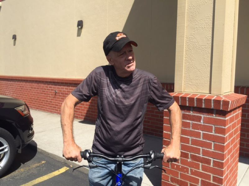 PHOTO COURTESY: KOIN 6 NEWS - Denny Payne got a new bike when Oregon City-area residents pitched in after he was assaulted by a driver.