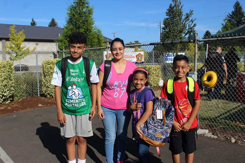 PMG PHOTO: KRISTEN WOHLERS - Kids in the Canby community were able to 'shop' for the perfect backpack at The Canby Center's annual Backpack and School Supply Distribution event on Thursday, Aug. 22.