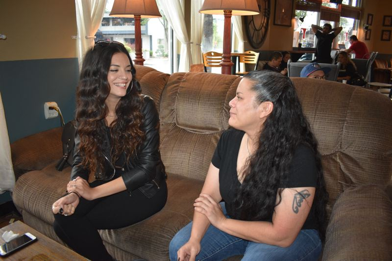 PMG PHOTO: SHANNON O. WELLS - Camille Denny and her mother, Kim Combs, have an easy relationship that Combs nurtures by supporting Denny's musical ambitions and busy road schedule with MarchFourth.