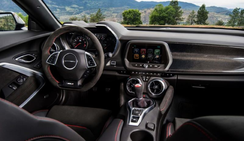 COURTESY CHEVY - The interior of the Chevy Camaro is has come a long way over the years. The 2019 version is available with practically every available automotive technology. It can also be ordered with a six-speed manual transmission, shown here.