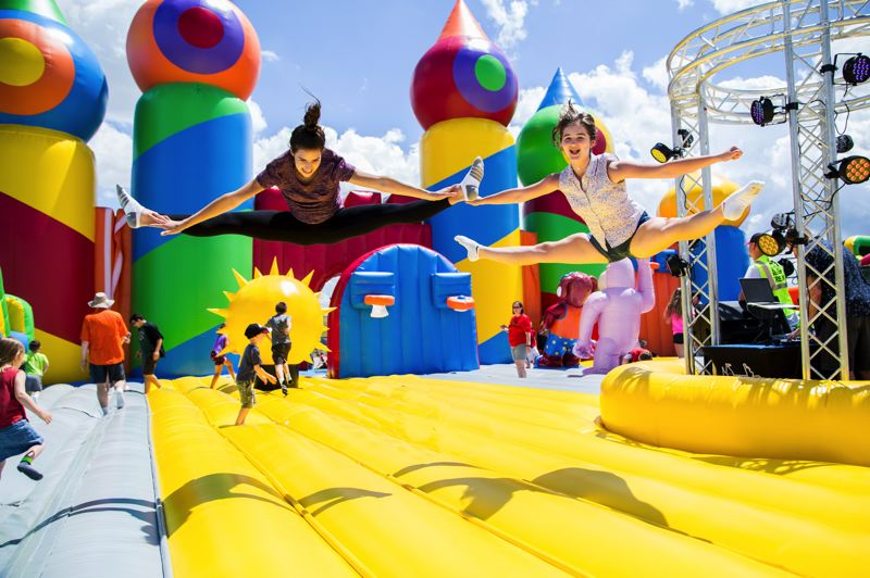 COURTESY PHOTO: BIG BOUNCE AMERICA - The Big Bounce America brings the 'World's Largest Bounce House' back to the Portland area, setting up in Sherwood, Sept. 14-22. The bounce house itself is 10,000 square feet.