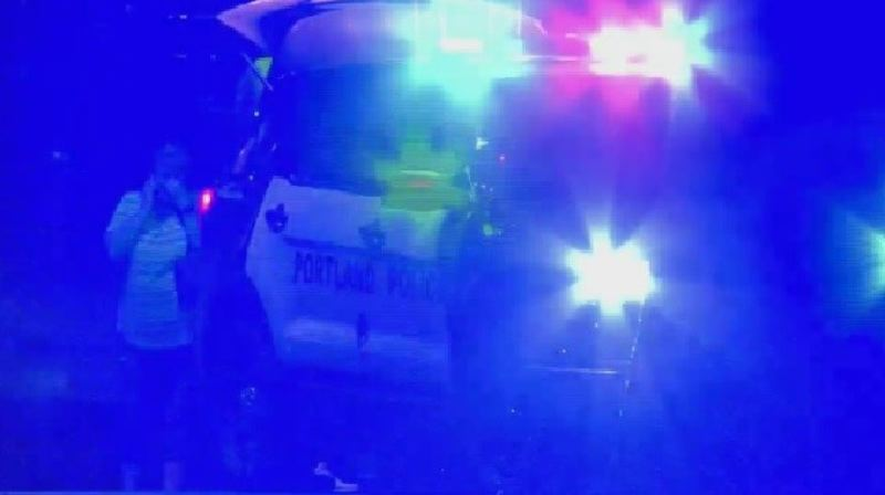 KOIN 6 NEWS - The scene of the most recent shooting in the Montavilla neighborhood.