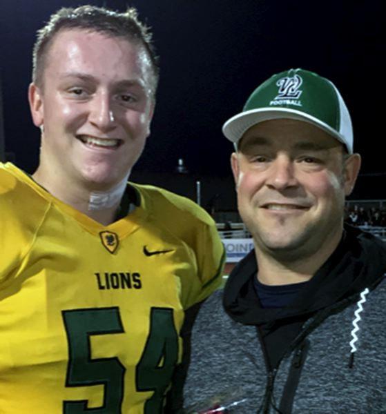 COURTESY PHOTO - West Linn's Jason Porter (right, pictured with 2017 West Linn graduate Jake Porter) will be inducted into the PIL Sports Hall of Fame in October.