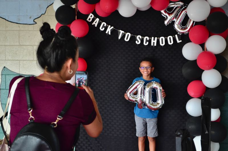 PMG PHOTO: BRITTANY ALLEN - Students, parents and teachers, past and present, celebrated 40 years of Kelso Elementary on Aug. 29.