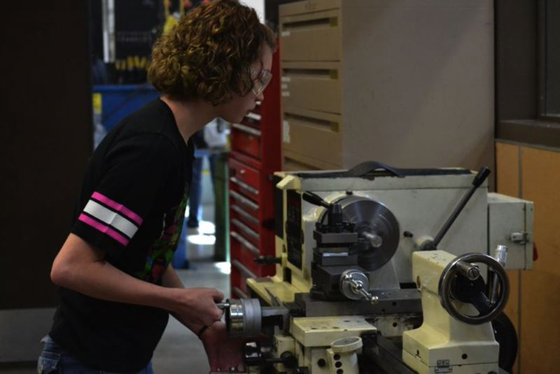 PMG FILE PHOTO - Sandy High School offers nine CTE programs of study, ranging in topics from manufacturing to computer science to art.