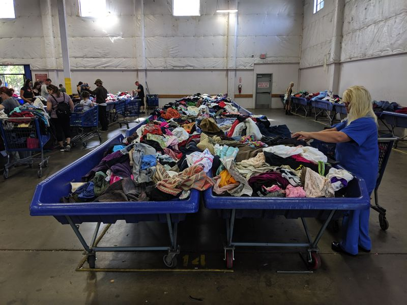 PMG PHOTO:  JOSEPH GALLIVAN  - The Goodwill Industries of the Columbia and Willamette outlet store, AKA the Sellwood Bins.