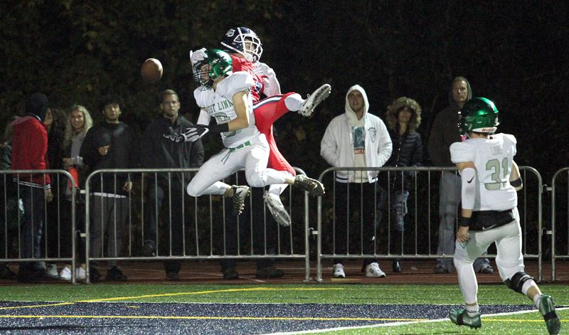 PMG PHOTO: MILES VANCE - West Linn senior wide receiver Ethan Loun should be one of the Lions' key targets in 2019 as the team battles toward another long playoff run.