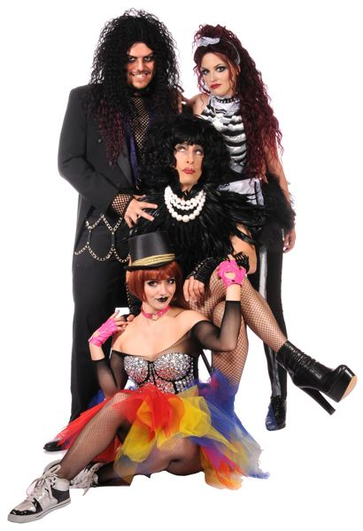 COURTESY PHOTO: TRIUMPH PHOTOGRAPHY. - 'The Rocky Horror Show' at Lakewood Theatre Company, features (left to right) Alec Cameron Lugo, Paige A. Hanna, Norman Wilson, Michaela George.