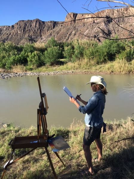 COURTESY PHOTO - Janie Lowe, a Portland artist, returned to her native Texas to document, through paintings, the people and environment at the U.S.-Mexico border. Her works 'Borderland Stories' (below) show at Antoinette Hatfield Hall.