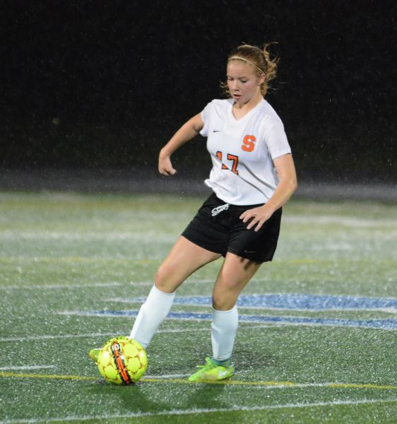 PMG FILE PHOTO - Tessa Davidson, a junior, helped Scappoose get off to a winning start this season in girls soccer with two goals in a 7-0 victory against Central.
