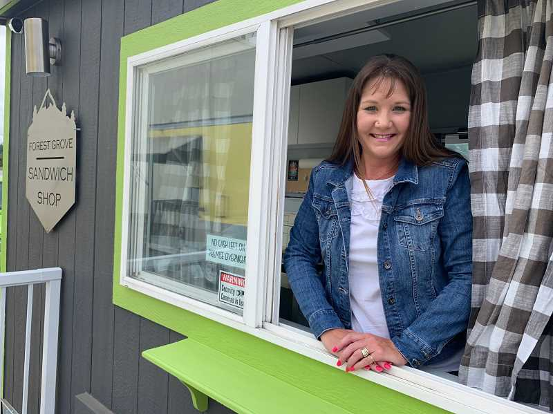 PMG PHOTO: JANAE EASLON - Tonya Giesbers is one of the owners of Forest Grove Coffee Co., set to open its new sister cart, Forest Grove Sandwich Shop.