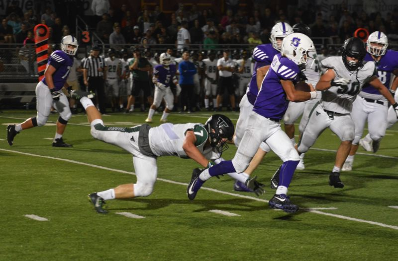 TIMES PHOTO: MATT SINGLEDECKER - Tigard linebacker Cole Scott led the Tigers in tackles and tied for the team lead in sacks.