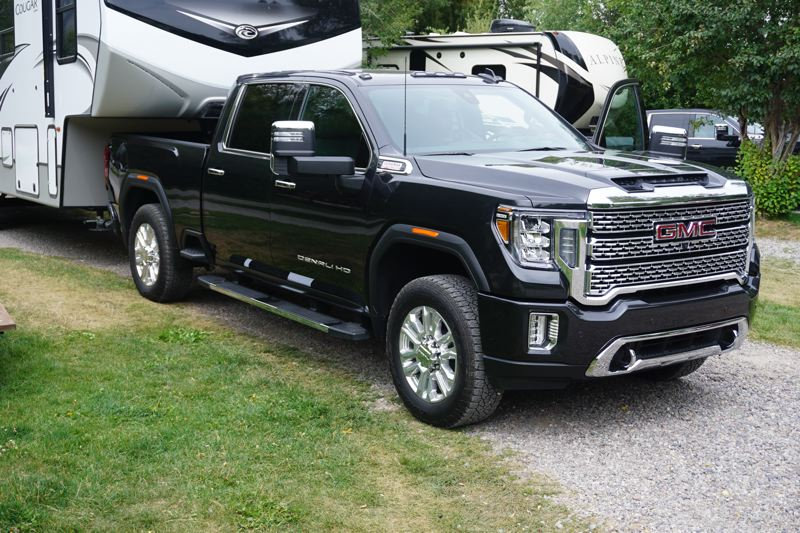 PMG PHOTO: JEFF ZURSCHMEIDE - The top trucks in the GMC lineup can pull trailers up to 35,500 pounds. That's the best rating in the category, but you'll need a Class A commercial driver's license to actually do that on a public road.