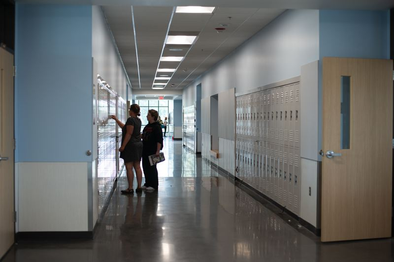 PMG PHOTO: ANNA DEL SAVIO - Students started classes at the new St. Helens Middle School earlier this week.