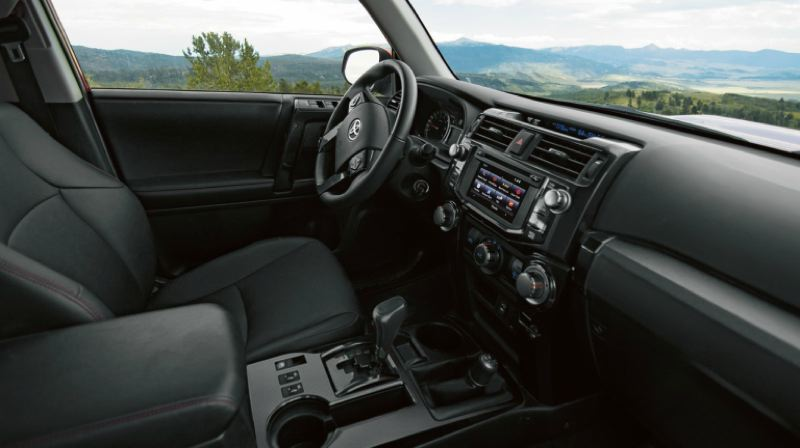 CONTRIBUTED TOYOTA - The interior of the 2019 Toyota 4Runner Pro is not fancy, but it has such practical features as large knobs that are easy to use, even when wearing gloves.