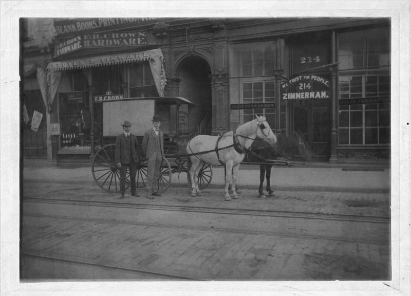 COURTESY: CHOWN HARDWARE - F.R. Chown opened the first Chown Hardware store near the Portland riverfront in 1879.