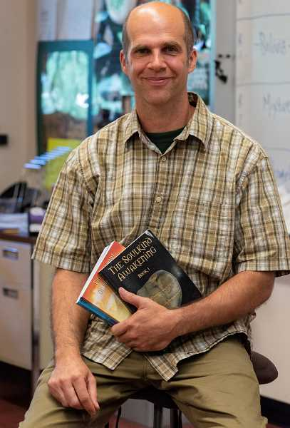 PMG PHOTO: CLARA HOWELL  - Steve Davala is a science teacher at West Linn High School and also a published author.