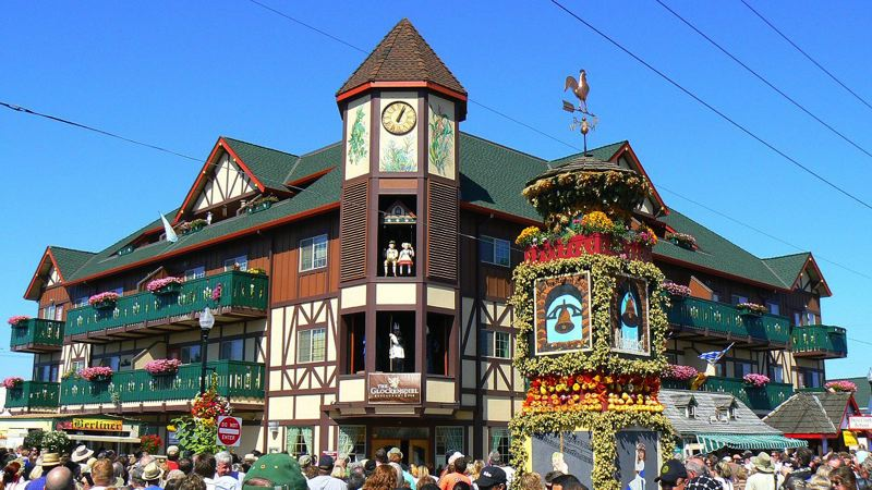 PMG FILE PHOTO - The Glockenspiel Restaurant is always a prominent feature in Mount Angel, but it takes on special significance during Oktoberfest.