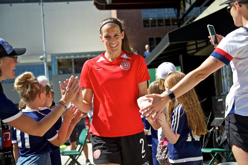 COURTESY PHOTO: PORTLAND THORNS - Defender Katherine Reynolds of the Portland Thorns wasn't about to let a knee injury determine the end of her playing career.