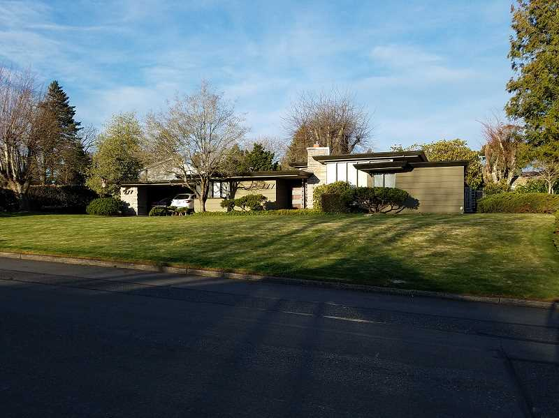 PMG PHOTO: CHRISTOPHER KEIZUR - The Roy E. and Hildur Amundsen House, a mid-century modern home in Gresham, was added to a historic national registry.